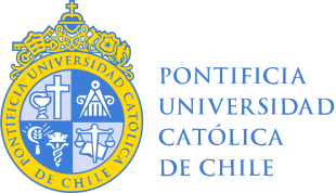 The seal of the Pontificia Universidad Catolica De Chile sits above the schools name